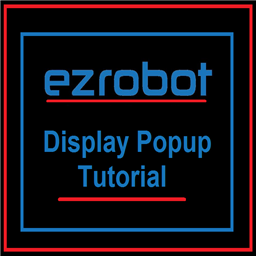 Display Popup Tutorial.