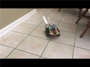 Ezang's ARC  - A Short Video - My Tank Base Robot - DC Brushed Or Brushless Motors And L298N Dual H-Bridge With Pulse Width Modulation (PWM) Control Robot