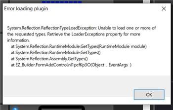 "EZ-Bulider ""Error Loading Plugin"" Issue"
