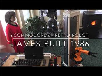 Steve's James, Commodore 64 Retro Robot That Learns And Uses Voice Recognition