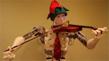 3Dguy's T-One Playing Violin  - Inmoov Style