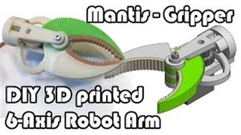 Most Elegant Diy Arm, Gripper With Stl Files I've Seen