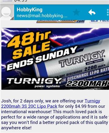 Crazy 48 Hr Sale On Lipo Battery Packs