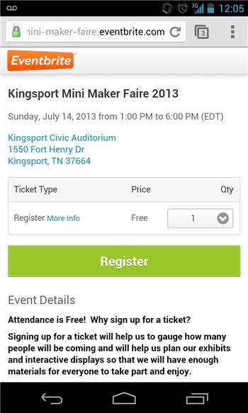 Maker Faire 2013 Kingsport, Tn Usa , Calling All Robots!